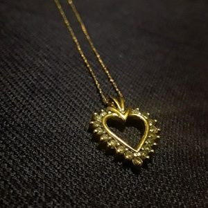 Gold Heart Necklace.